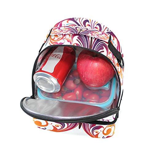 bandoulière Alinlo l'école Tote réglable isotherme Pincnic à Sac Cooler Boîte avec Papillon pour lunch coloré à pwZq8pxv