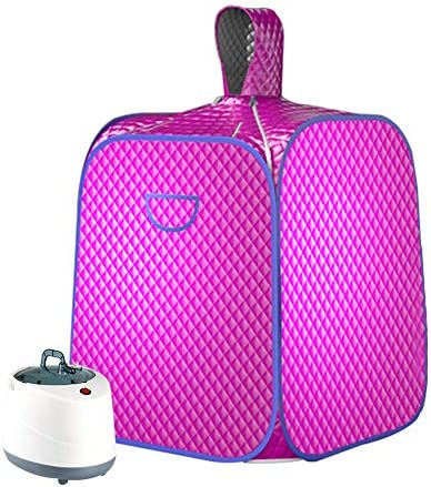 SEAAN Portable Personal Steam Sauna Spa Tent Full Body Home Sauna Therapeutic for Weight Loss, Detox, Slimming, W/ 2L Steam Pot Remote Control,1000W,10-60 Minute, 9 Temperature Levels 1