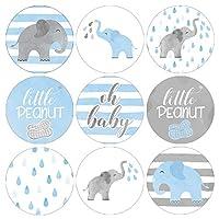 Blue Elephant Baby Shower Favor Stickers - 180 Labels