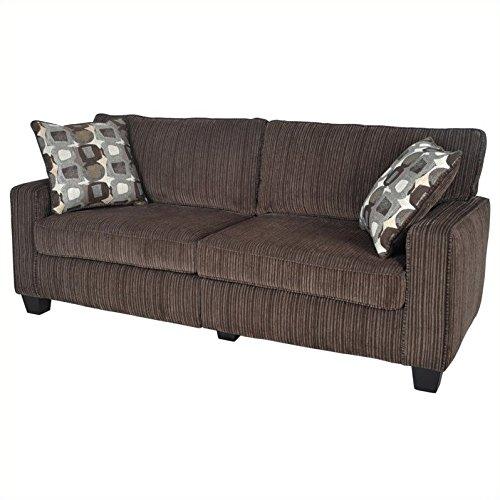 "Serta RTA Palisades Collection 78"" Sofa in Riverfront Brown"