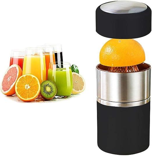 XVCHANGQING Exprimidor Licuadora portátil Acero inoxidable Rotación manual de la tapa Exprimidor de cítricos Limón Naranja Mandarina Exprimidor de jugo de lima Mini exprimidor, plata, EE. UU. 220V: Amazon.es: Hogar