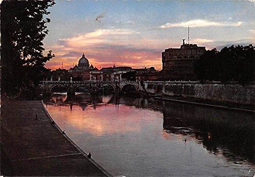 (Castel S Angelo e Cupola di S Pietro Roma Italy Postcard)