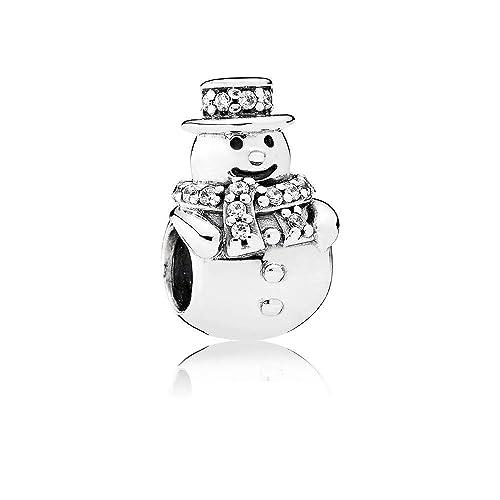 bd8586ffc Pandora Charm Bead 792001CZ Woman Silver Snowman: Amazon.co.uk: Jewellery