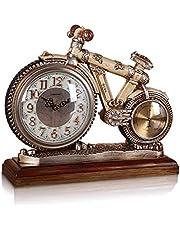 Resin Bicycle Design Table Clocks Vintage Silent Mantel Clock Home Art Decorations Beautiful
