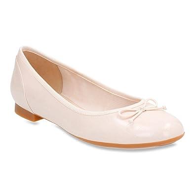 Clarks Women's Couture Bloom Ballerina Flat,Nude Pink Croc,US ...