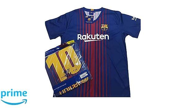 Camiseta 1ª Equipación Replica Oficial FC BARCELONA 2017-2018 Dorsal MESSI - Tallaje ADULTO (XL): Amazon.es: Ropa y accesorios