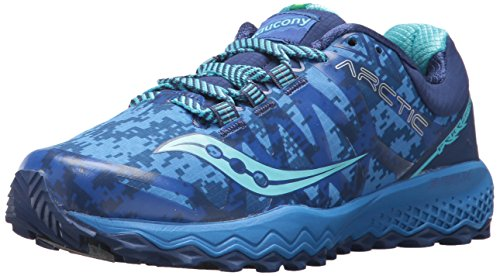 Saucony Women's Peregrine 7 Ice+ Running Shoe, Blue, 10.5 Medium US