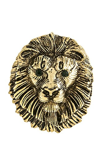 [TRENDY FASHION JEWELRY LION FACE BROOCH BY FASHION DESTINATION] (Lion Dog Costume Amazon)