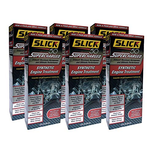 Slick 50 S L-750001-06 Supercharged Full Synthetic Engine Treatment, 6 Pack