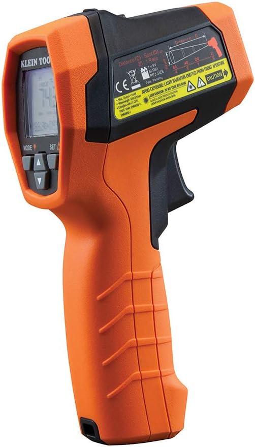 Klein Tools IR10 Infrared Thermometer, Digital Thermometer Gun with Dual Targeting Laser, 20:1