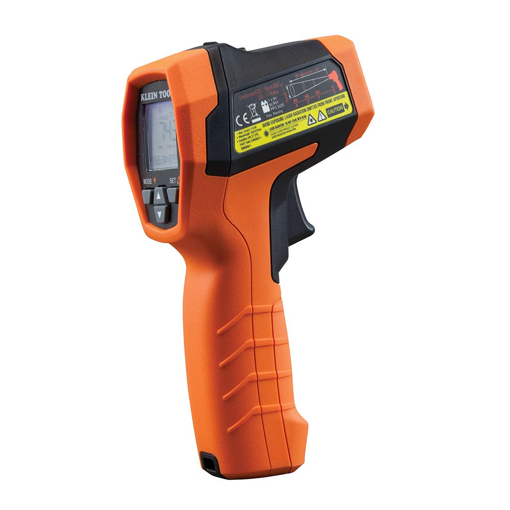 Klein Tools IR10 Infrared Thermometer, Digital Thermometer Gun with Dual Targeting Laser, 20:1 by Klein Tools