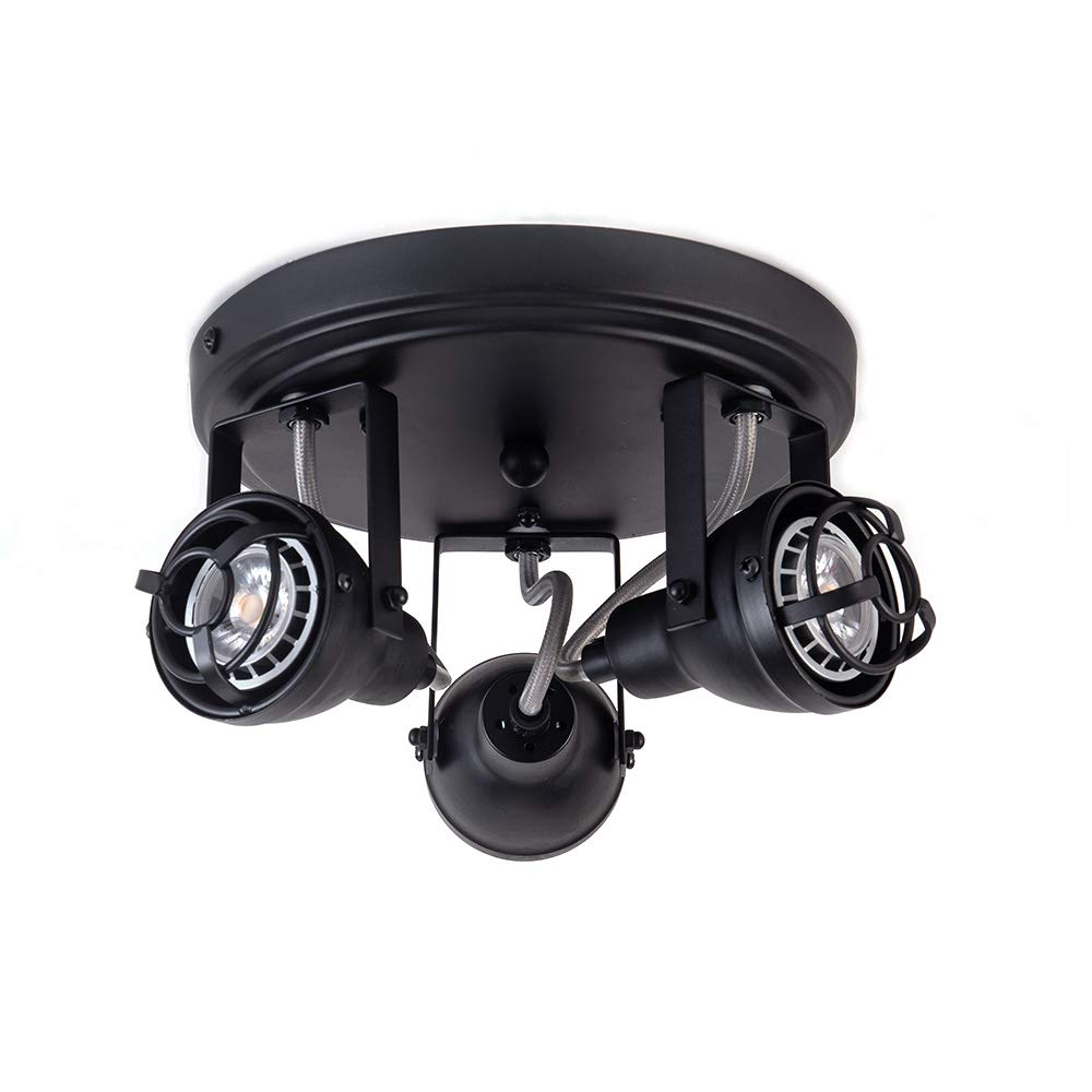 Bronze Black Track Directional Light, Triple Head Ceiling Fixture Adjustable Spotlight For Kitchen, Pantry, Stairwell, Hallway(8.3 inch)