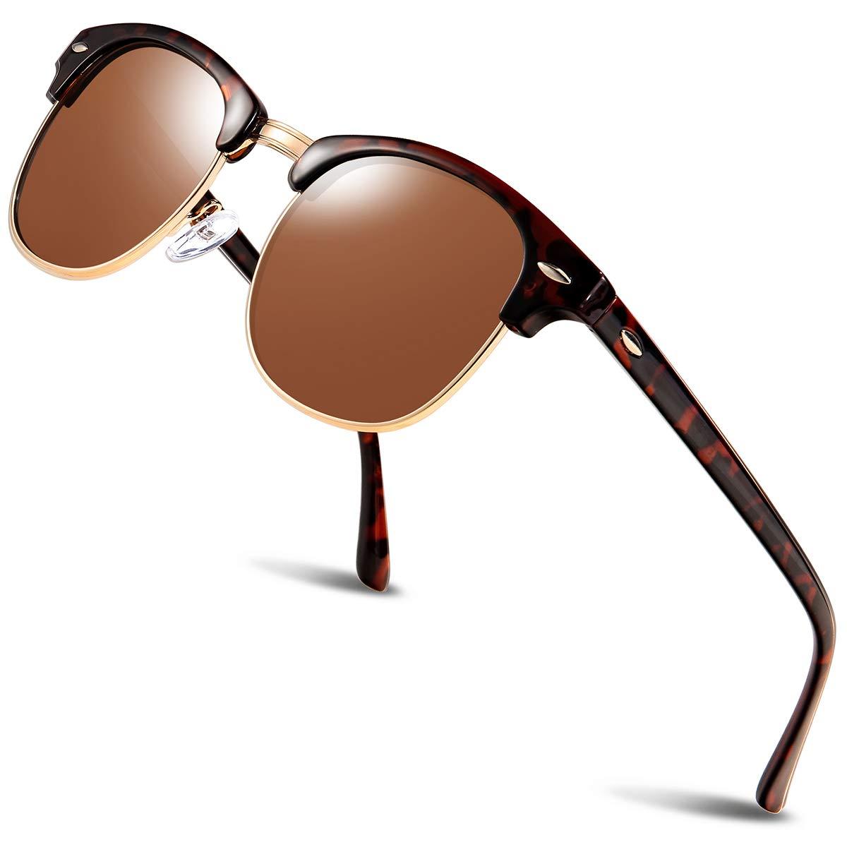 Polarized Sunglasses for Women and Men - wearPro Semi-Rimless Men Sunglasses polarized uv protection WP2006 by wearpro