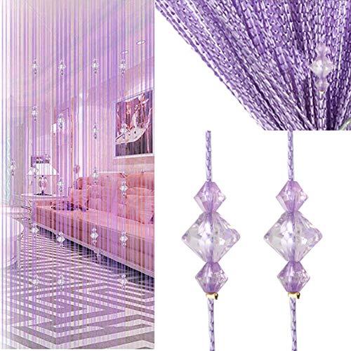 Crystal Beaded Curtain Tassel Curtain - Partition Door Curtain Beaded String Curtain Door Screen Panel Home Decor Divider Crystal Tassel Screen 90x200cm]()