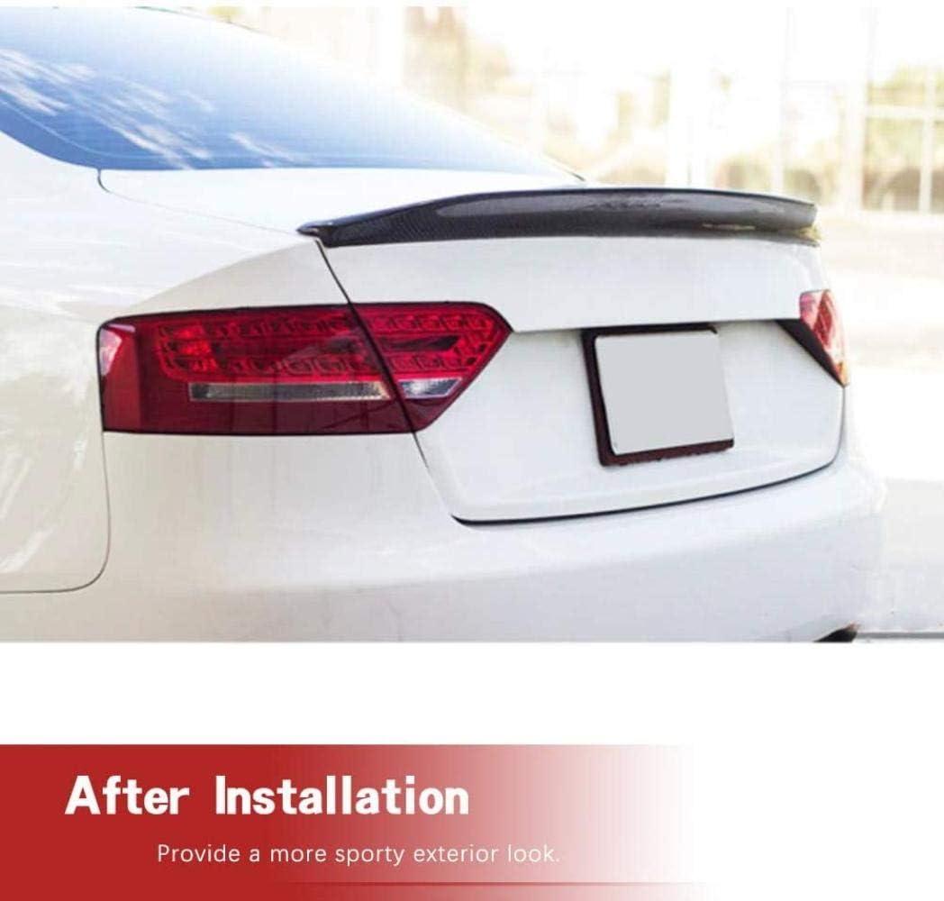 NB-LY Carbon Heckspoiler passt f/ür Audi S5 Coup/é 2008-2016 Heckspoiler Heckfl/ügelspoiler Kofferraumdeckel Werksauslass