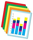 Premium Paperwork Arrangers, Letter Size, Assorted Colors (5 each or Red, Orange, Yellow, Green and - (4 Packages)