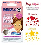 MEDca Universal Acne Pimple Patch Absorbing Cover Heart And Star Shapes TOTAL OF 56 PATCHES