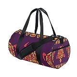 Gym Bag Paisley Africa Art Culture Sports Travel Duffel Lightweight Canvas Bags