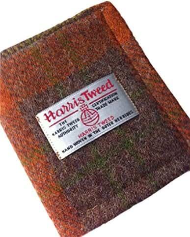 Harris Tweed Man's Wallet - Malt Whisky plaid design