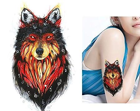 Wolf Tattoo Animales Tattoo Fake Tattoo una vez Tattoo para pegar ...