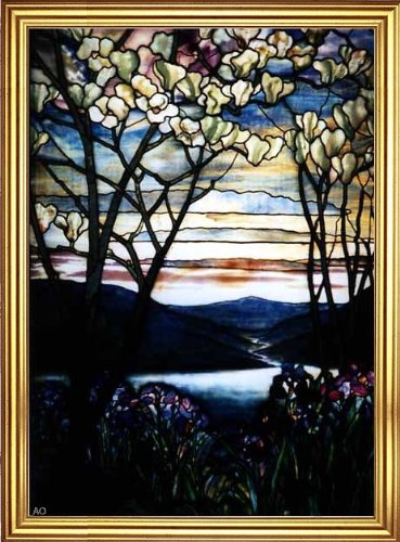 Art Oyster Louis Comfort Tiffany Magnolias and Irises - 18