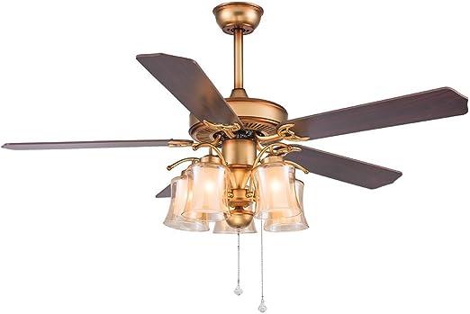 luxurefan rústico moderno ventilador de techo portátil decoración ...