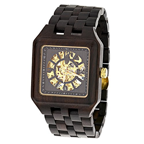 UD-Mens-Skeleton-Manual-MovementHand-Wound-Transparent-Mechanical-Square-Ebony-Sandal-Wooden-Watch