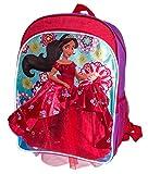 Colorful Disney Princess Elena of Avalor School Bag Backpack, Girls School Bagpack (Red Ball Gown Elena)