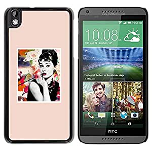 Paccase / SLIM PC / Aliminium Casa Carcasa Funda Case Cover - Poster Movie Star Actress Hollywood - HTC DESIRE 816