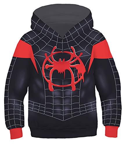 (Riekinc Kids Superhero Costume Long Sleeve Hoodie Sweatshirts )