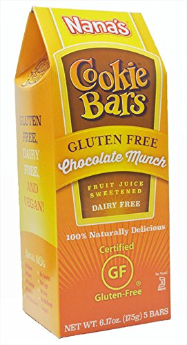 Nana's Gluten Free Chocolate Munch Cookie Bars, Net Wt 6.17 Oz. Boxes, 5-Count Bars (Pack of 8) (Cholesterol Free Cookies Chocolate)