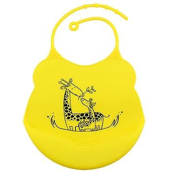 Koly Bebés infantes impermeables baberos de silicona Almohadillas para niños Premium Lindo Cómodo Suave Limpia fácilmente las toallitas Quita las manchas ...