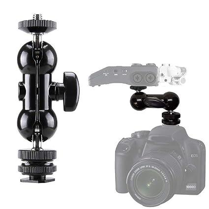 Amazon com : 1/4'' Hot Shoe Mount Camera Ball-Head Adapter for Zoom