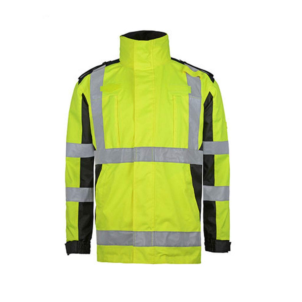 WBBFGF Reflektierender Baumwollmantel, High-Speed-Straßenverwaltung Reflektierende Kleidung Traffic Cold Cotton Clothing Jacke Fluorescent Gelb