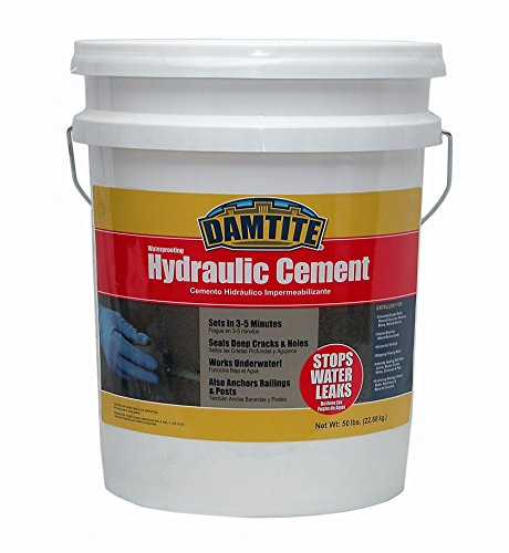 Damtite 07502 Gray Waterproofing Hydraulic Cement, 50 lb....