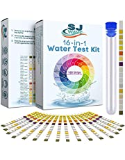 16 in 1 Drinking Water Test Kit | Water Test Strips for Aquarium, Pool, Spa, Well & Tap Water | High Sensitivity Test Strips detect pH, Hardness, Chlorine, Lead, Iron, Copper, Nitrate, Nitrite