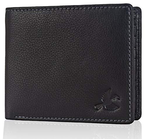 HORNBULL Maddison Men #39;s Black Genuine Leather Wallet
