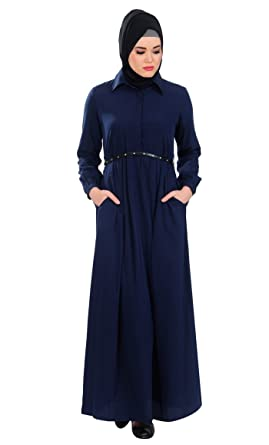 77fccc3581a EastEssence Black Crepe Abayas and Jilbabs at Amazon Women s Clothing store
