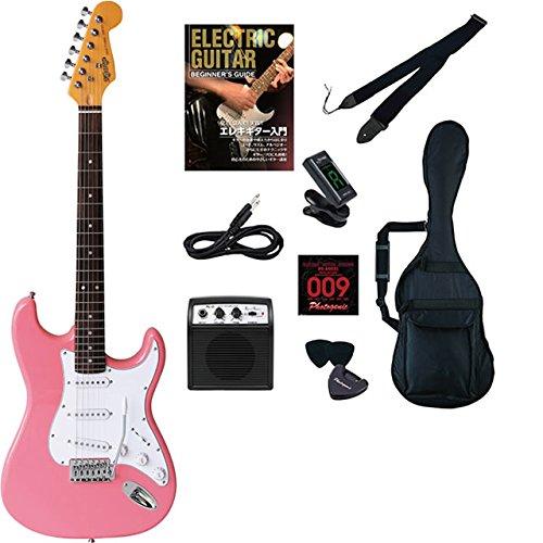 エレキギター 初心者セット ストラト ストラトキャスター タイプ 入門 セット KST-150 ビギナーライトセット デスクトップアンプ PhotogenicDESKTOP AMPLIFIER PG-01付属 (PIK) B01IEQWXLU PIK PIK