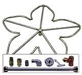 Spotix HPC Match Lit Fire Pit Burner Kit, Penta, 24-Inch Burner, Natural Gas, Polished Chrome
