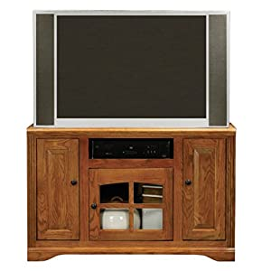 "Eagle Oak Ridge Tall TV Cart, 45"" Wide, Dark Oak Finish"