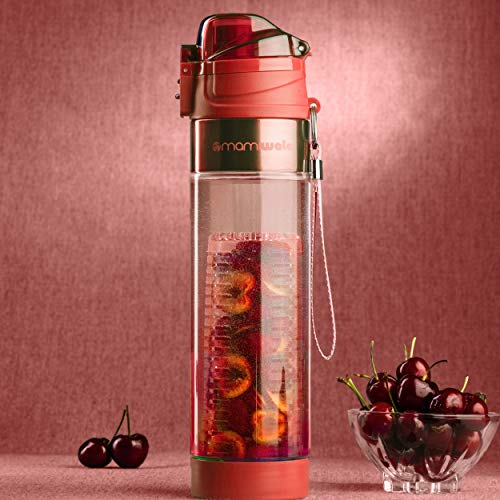 927c1756e1 MAMI WATA Fruit Infuser Water Bottle – Beautiful Gift Box – Unique Stylish  Design - Free