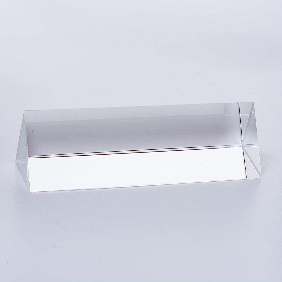 LONGWIN Cristal Triangular Prisma Triple Prisma para la Ense/ñanza Fotograf/ía Props Luz Solar Reflejo con Caja de Regalo 5*5*15CM