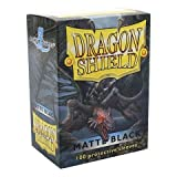 Dragon Shield Matte Black 100 Deck Protective Sleeves in Box, Standard Size for Magic he Gathering (66x91mm)