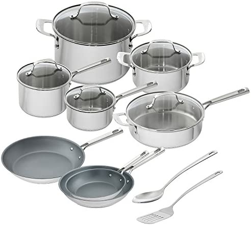 Emeril Lagasse 15 Piece Stainless Cookware
