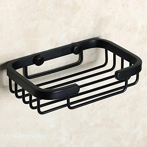 Alise G81401-B Soap Dish/Holder Soap-Holder Basket Wall Mount SUS 304 Stainless Steel,Matte Black ()