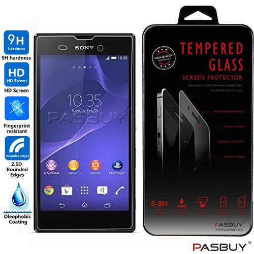 PASBUY® Sony T3 Premium Real Tempered Glass Screen Protector for Sony Xperia T3