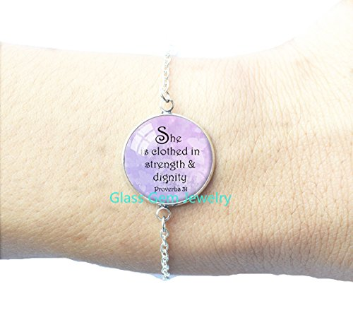 STERLING PROVERBS 31 Bracelets Proverbs Jewelry Bible Verse Bracelet Scripture Jewelry Christian Gift for -