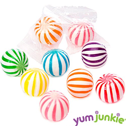 YumJunkie Sassy Spheres Striped Candy Balls, Assorted, 5 Pound ()