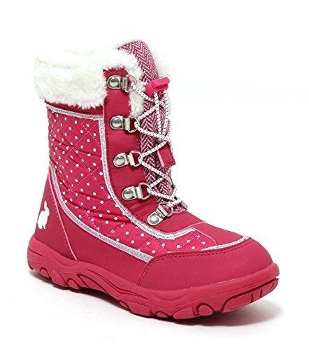 Neues Produkt e81ff 2adaf Dynamic24 Mädchen Schneestiefel Snowboot Winterstiefel Thermo Stiefel pink  Schuhe